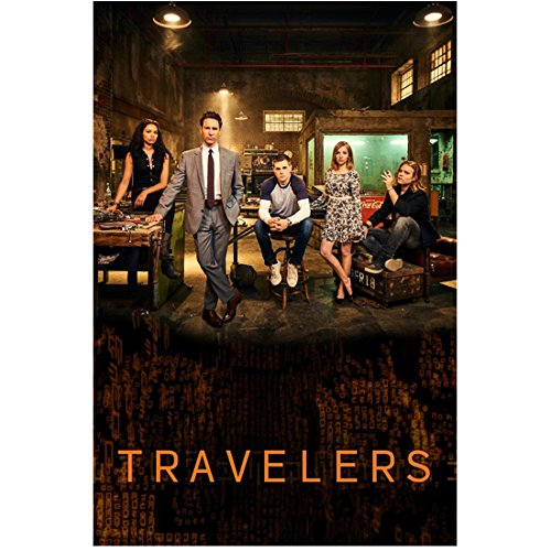 Eric McCormack 8 inch x 10 inch PHOTOGRAPH Travelers (TV Series 2016) w/Cast Title Poster kn