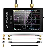 Analizador de red vectorial NanoVNA V2 con caja EVA, analizador de red vectorial de metal 50 KHz 3 GHz HF VHF Analizador de antena UHF para la medición de parámetros S