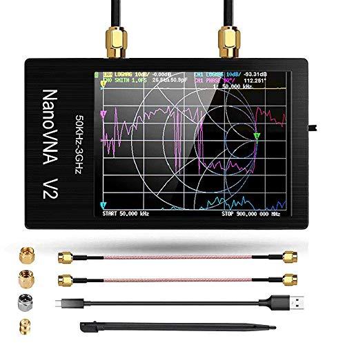 3Gベクトルネットワークアナライザー、2.8インチNanoVNA V2 50KHz?3GHz大型タッチスクリーンアンテナアナライザーS-A-A-2短波HF VHF UHF定在波スペクトルアナライザー