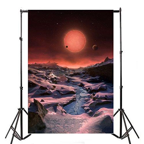 Yeele 6?x 9ft Alien Planet Desolate背景for Photography Viyl Exploration Universe Galaxy Planetary Mars写真Backdropsベビー女の子肖像画写真ビデオ撮影ス