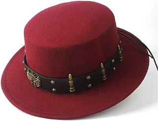 Outing Hat حجم 56-5. 8CM. Steampunk النساء الرجال الصوف شقة الأعلى فيدورا قبعة واسعة بريم الكنيسة قبعة في الهواء الطلق fas...
