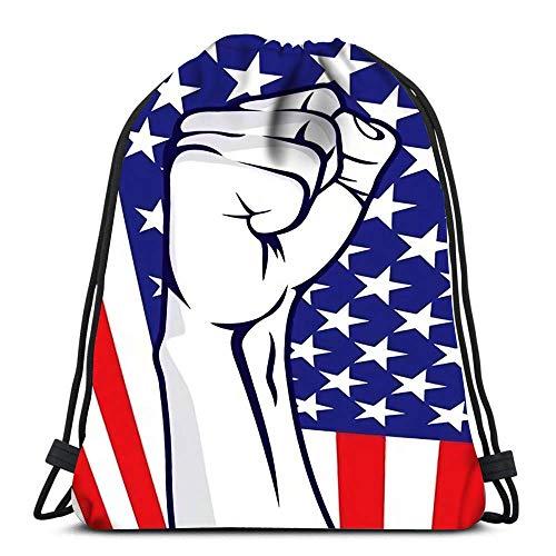 Hdadwy Mochila con cordón Bolsas Deportivas Cinch Bolsas de Asas Puño Americano para Viajar y almacenar