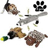 Legendog Juguete para Masticar Perros, Juego de 3 Juguetes para Cachorros interactivos/Juguete para Perros chillones/Juguetes para Perros sin Peluche/Juguetes de Peluche para Perros medianos pequeños