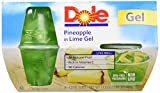 jello snack packs - DOLE FRUIT BOWLS  Pineapple in Lime Gel, 4 Count Fruit Bowls (Pack of 6)
