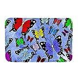 LVOE TTL Teppiche Fußmatten Teppiche für Innen- und Außenbereiche Teppiche Garden Office Butterfly Fußmatten 15,7 x 23,5 Zoll