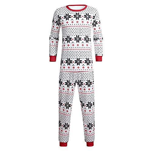 FRAUIT Weihnachten Familie Kinder/Mama/Papa Familie Schneeflocke Pyjama/Schlafanzug Weihnachten Muster Pyjama Set - Herren Damen Kinder Baby Weihnachten Schlafanzüge/Einteiliger Nachtwäsche