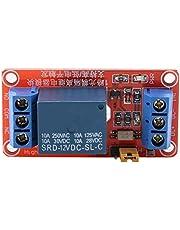 Keenso Relaismodule, patch-fotokoppelaar, isolatiemodule 1-kanaals optokoppeling 5 V 12 V 24 V relaismodule AC/DC-relais 5 mA activeringsstroom (12 V)