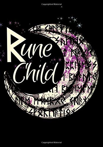 Rune Child: Dot Grid Cream Paper Notebook For Writing, Sketching, Bullets, Notes, Indexing, Graphs, And Drawing - Wicca Spiritual Journals