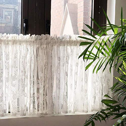 Vorhänge Küchenhälfte, Küchennetz, kurzes Badezimmerfenster, kurze Stangentasche halbtransparent