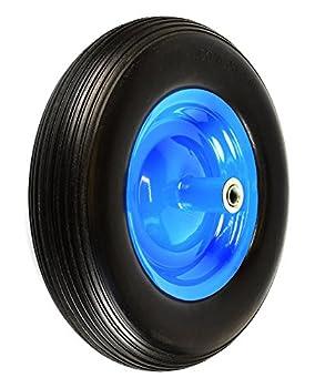 NK WFF16BK Flat-Free Wheelbarrow Tire with Ribbed Tread 6 -Inch Centered Hub 5/8 -Inch Bearings - 15.5 -Inch Tire Diameter 4.80/4.00-8