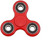 Christmas Concepts - Spinner Rojo Exclusivo de la Mano con los Anillos Negros - Reductor de la tensión, relevación de la tensión, Autismo - Tiempo de la Vuelta 1-3 Minutos