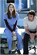 Grey's Anatomy Jeffrey Dean Morgan Sitting on his Hospital Bed with Hands Clasped 8 x 10 Photo