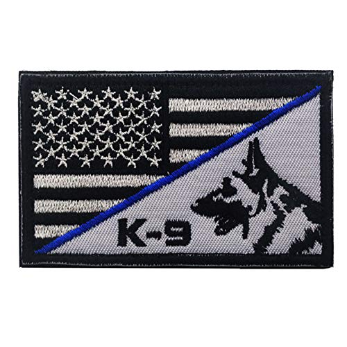 Service Dog Sheep Dog K9 Vests/Harnesses Emblem Embroidered Military Hook & Loop Patch (7)