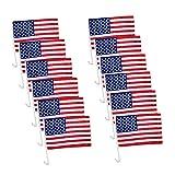 EKN US American Patriotic Decoration Car Window Clip USA Flag 17' x 12' Clip onto Car Window - Pack of 120 (10 DZ)
