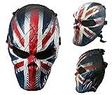 Airsoft calavera cara llena máscara de protección Militar protección Paintball Halloween disfraz htuk, England