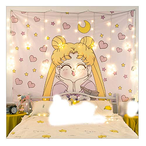 MSOrient Japanese Anime Sailor Moon Decor Wall Cloth Lovely Tapestry Home Decor Bedroom Decorative Tapestry
