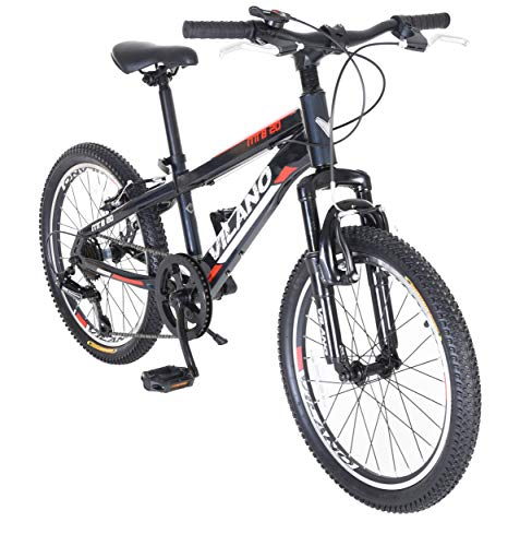 Vilano Kids Mountain Bike, 20 inch 6-Speed Hardtail MTB for Boys and Girls