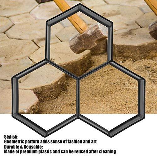 HEQIE-YONGP Outils de Jardinage de Plantation Stone Garden Marche Maker Mold Bricolage Revêtement en béton Mold Allée Brique Patio Pavage Moldes Para Concreto Brames Chemin Pathmate