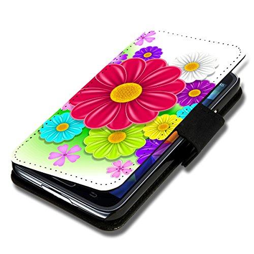 Book Style Flip Handy Tasche Hülle Schutz Hülle Schale Motiv Foto Etui für Microsoft Lumia 532 - Flip X15 Design12