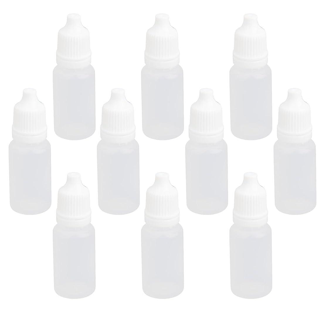 巡礼者包括的その間【ノーブランド品】点眼 液体貯蔵用 プラスチック製 ドロッパーボトル 滴瓶 10ml 10個