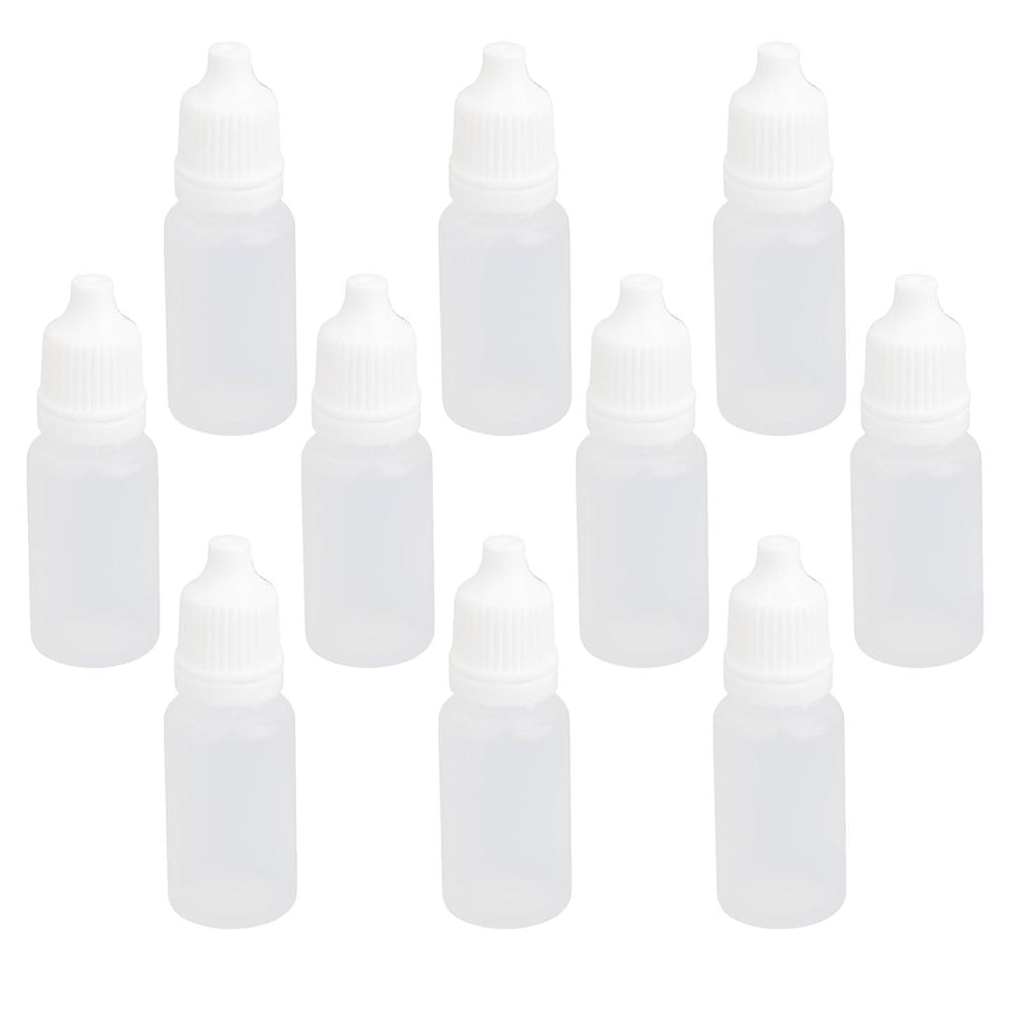 相手不可能な周囲【ノーブランド品】ドロッパーボトル 点眼 液体 貯蔵用 滴瓶 プラスチック製 10個 (10ml)