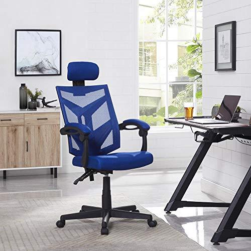 Naomi Home Juliet Adjustable Ergonomic Mesh Office Chair Blue