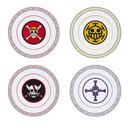 One Piece Vajilla Unisex Plato multicolor, porcelana,