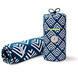 Blue and White Picnic & Outdoor Blanket by Laguna Beach Textile Co - Plush and Water-Resistant Outdoor Mat - Perfect for Camping, Beach, Park and Picnics - Newport Blue Arrow