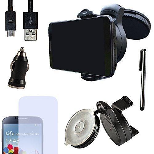 Eximmobile PREMIUM - Universal KFZ Halterung mit USB Ladekabel + Ladegerät + Folie + Stylus Pen für Huawei Ascend G730 als Navigation im Auto