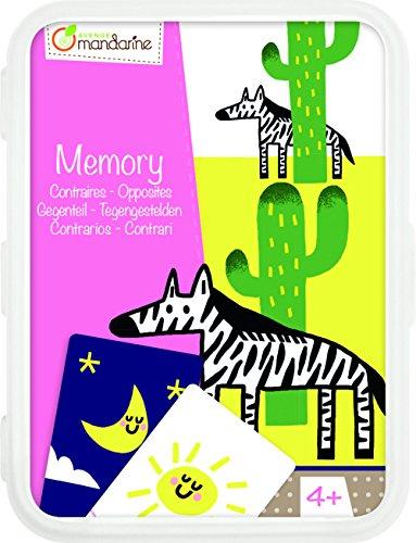 Avenue Mandarine CO102O - Un jeu de 50 cartes Mémory les contraires en boite plastique refermable