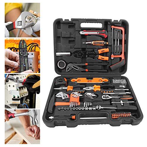 Set Herramientas de Mano 170 Piezas, Herramientas de Reparación de Hardware para Instalación Mantenimiento de Pequeños Electrodomésticos Muebles Bicicletas Tuberías de Agua