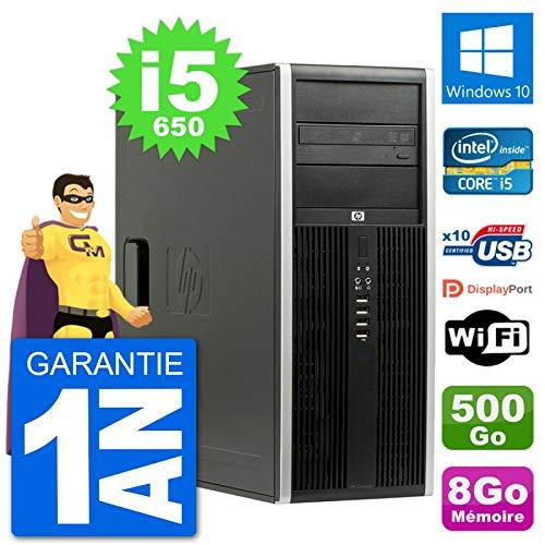 HP PC Tour 8100 Elite Intel Core i5-650 RAM 8Go Disque Dur 500Go Windows 10 WiFi (Reconditionné)