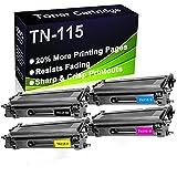 Cartucho de tóner láser compatible (BK+C+Y+M) DCP-9040, DCP-9045, HL-4040 4040CDN (alta capacidad) para Brother TN-115 (TN-115BK TN-115C TN-115Y TN-115M) de 4 unidades