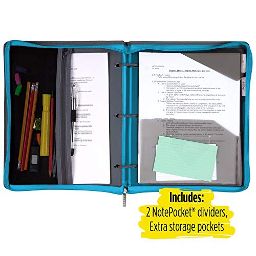 Five Star Flex Hybrid NoteBinder, 1 Inch Ring Binder, Notebook and Binder All-in-One, Teal (73420) Photo #4