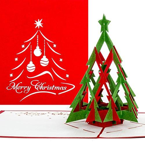 'pop-up tarjeta de Navidad Árbol | Modern Merry Christmas, tarjeta de Navidad con árbol de Navidad, Pop Up tarjeta en Navidad, 3d tarjeta, Christmas Greeting Card