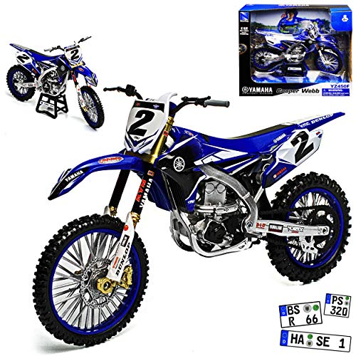 New Ray Yamaha YZF 450 JGR 2017 Cooper Webb Blau Supercross-WM Enduro 1/12 Modell Motorrad