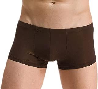 Men's Comfort Ice Silk U Convex Pouch Thin Boxer Briefs Underpants