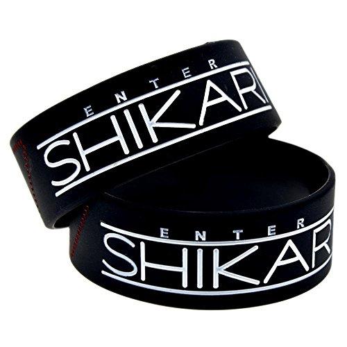 North King Silicone Hand Bracelet With Logo Enter Shikari On It 1-inch Bracelet Creative Gift Souvenir
