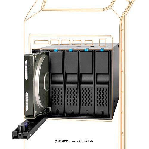 ICY DOCK FlexCage MB975SP-B R1 Trägerloser 5X 3,5 Zoll SATA Hot Swap Wechselrahmen mit 80mm Lüfter