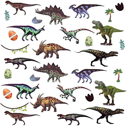 Oblique Unique® Kinder Dino Sticker Set 32 STK. Farbenfrohe Dinosaurier Aufkleber zum Spielen Basteln Spielspass Kindergeburtstag