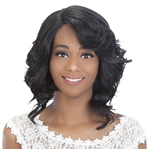 Vivica A Fox Hair Collection Tori New Futura Synthetic Fiber Full Lace Front Wig, 1B, 10 Ounce