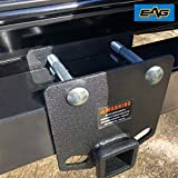 EAG RV Bumper Hitch 2 inches Receiver Adapter for 4 x 4 inches Square Bumper Beam Level Trailer Towing