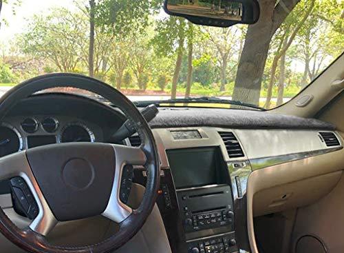 Yiz Dash Cover Mat Custom Fit for Cadillac Escalade 2007-2014,Dashboard Cover Pad Carpet (Gray) J18