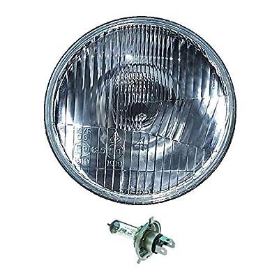 "OCTANE LIGHTING 5-3/4"" Motorcycle 6V Headlight Headlamp Halogen H4 Light Bulb 6 Volt 35/35W"