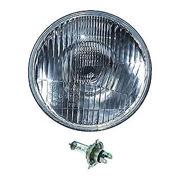 OCTANE LIGHTING 5-3/4  Motorcycle 6V Headlight Headlamp Halogen H4 Light Bulb 6 Volt 35/35W