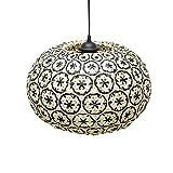 Lámpara de Techo Bay Natural/Negro 40x40x25cm 7hSevenOn Deco