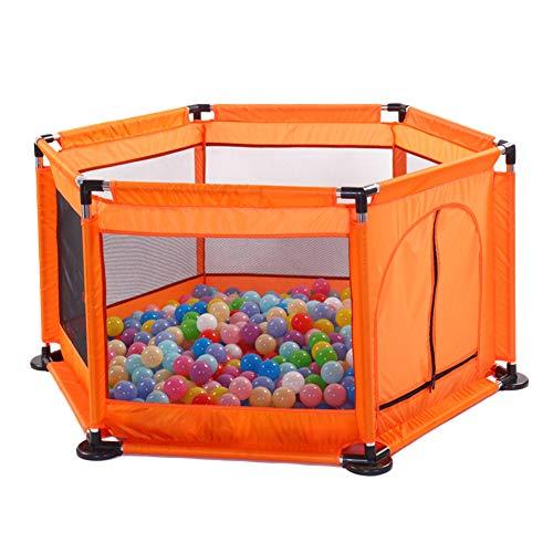 Laufstall Laufgitter Kinder Laufgitterzelt zum Spielen im Innen- oder Außenbereich Tresor Krabbeln Indoor und Outdoor Orange Eine Größe