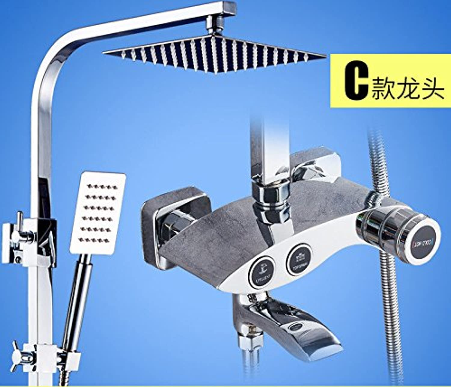 ETERNAL QUALITY Bathroom Sink Basin Tap Brass Mixer Tap Washroom Mixer Faucet Shower Kit Full Copper Water mixing valve faucet bathroom showers, hot and cold shower fauce
