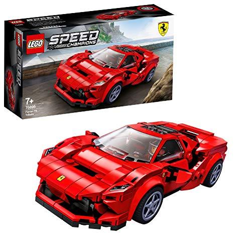 LEGO 76895 Speed Champions Ferrari F8 Tributo Rennwagenspielzeug mit Rennfahrer...