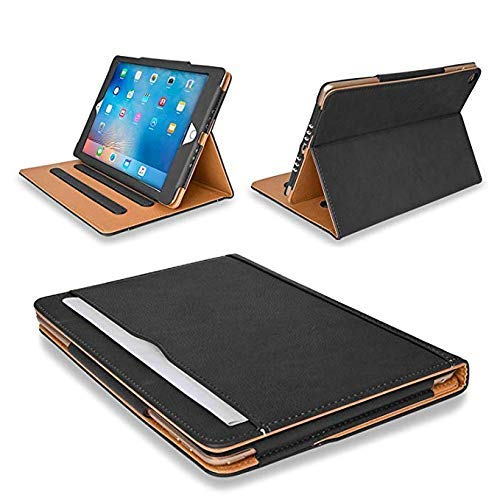 MOFRED Black & Tan Apple iPad Executive Leather Case for Apple iPad 10.5 inch (Released 2019)- Voted by'The Daily Telegraph' as #1 iPad Case!